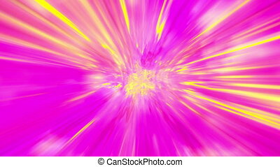 Multicolored light rays looping animated background