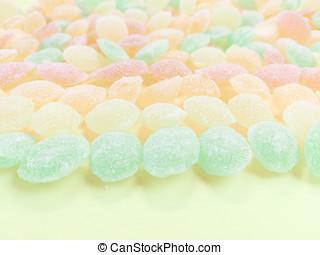 Multicolored lollipops background