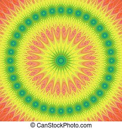 Multicolored mandala design background vector