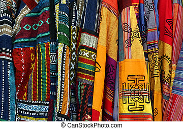 Multicolored Mexican Embroidered Ponchos - This is a...