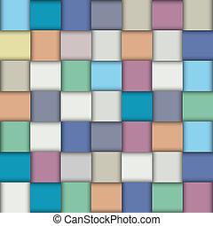 Multicolored paper lattice. Vector background