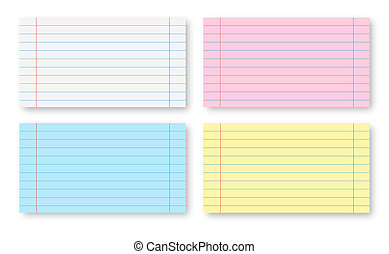 Paper sheets - Multicolored Paper sheets with stripes...