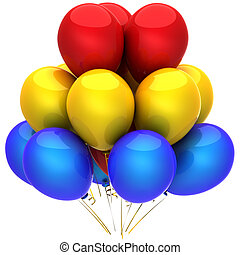 Multicolored party balloons