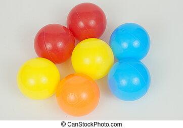 Multicolored Plastic balls.