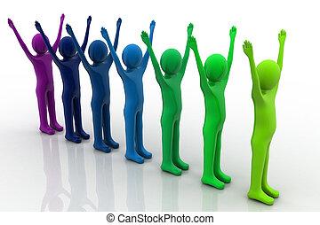 Multicolored plasticine human - Multicolored plasticine...