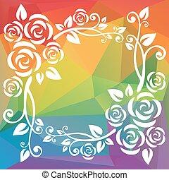 multicolored polygonal border