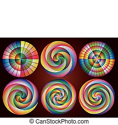 Multicolored Rainbow Circles