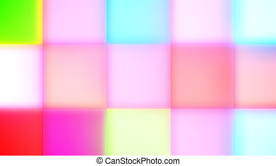 Multicolored Rainbow Square Led Buttons