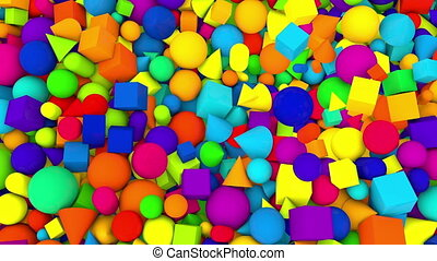 """Multicolored Random Falling Balls Backdrop """