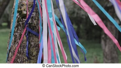 multicolored ribbons in the wind