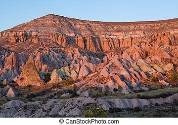Multicolored rock formations of Cappadocia