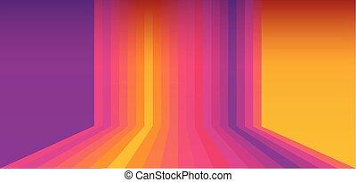 Multicolored screen wallpaper vector sunset color - Colorful...