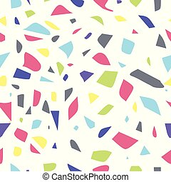 Multicolored seamless terrazzo pattern background.