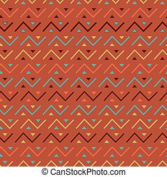 Multicolored seamless tribal pattern background.