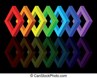Multicolored shapes