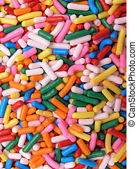 Multicolored sprinkles - Assortment of red, green, blue,...