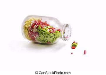 sprinkles - Multicolored sprinkles in the jar