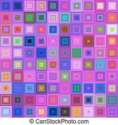 Multicolored square mosaic vector background