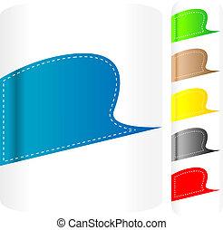 Multicolored stickers set. Vector label