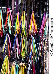 Multicolored straps for sale in the market