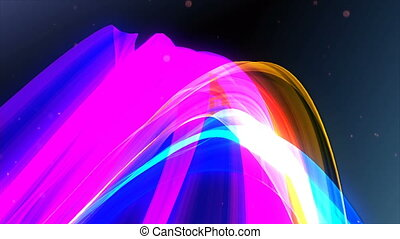 Multicolored stripes. 3D rendering. - Multicolored stripes...