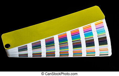 multicolored strips of paper