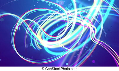 """""""Multicolored strokes in the blue backdrop"""" - """"An exciting..."""