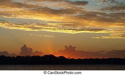 Multicolored Sunset Glow. - Colorfull Sunset in vicinity or...