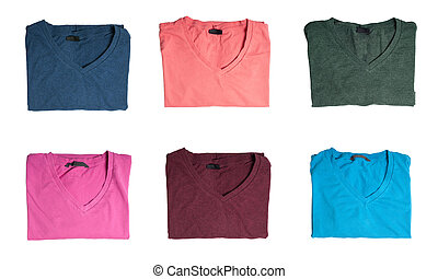 Multicolored t-shirts