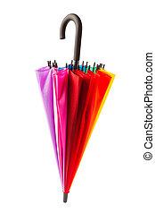 multicolored umbrella isolated on white
