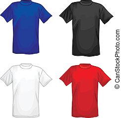 Multicolored vector T-shirt design