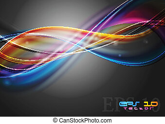 Multicolored vector waves - Abstract colourful waves on the ...
