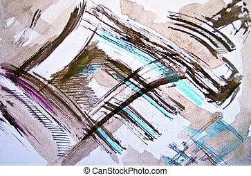 Multicolored watercolor background