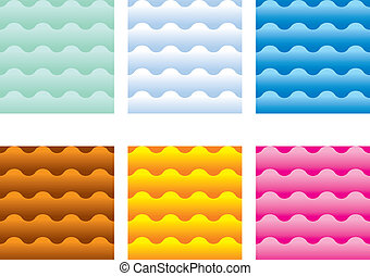Multicolored waves