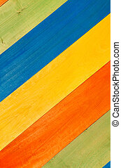 Multicolored Wooden Planks in Diagonal for Background -...
