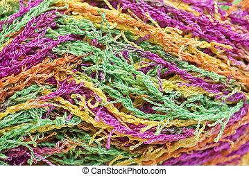 Multicolored Yarn - Wound skein of multicolored thread