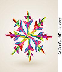multicolors, joyeux noël, illustration, flocon de neige