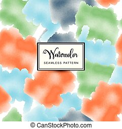 Multicolors watercolor background, vector seamless pattern ...