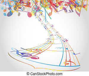 Multicolour  musical notes