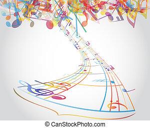 Multicolour musical notes