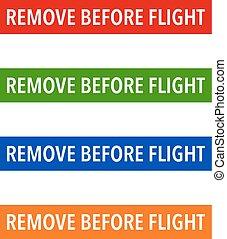 Multicolour Remove Before Flight Tags - Multicolour Remove ...