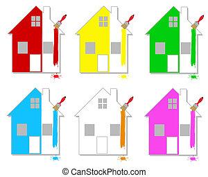 multicoloured, 家