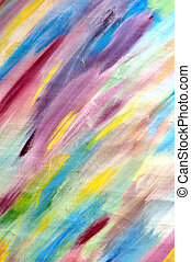 Multicoloured abstract background of varicoloured strokes of brush