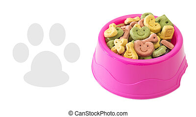 Multicoloured dog biscuits