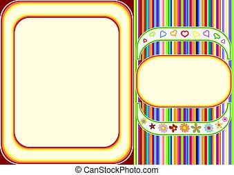 Multicoloured frame