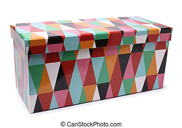Multicoloured gift box