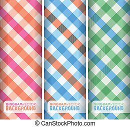multicoloured gingham