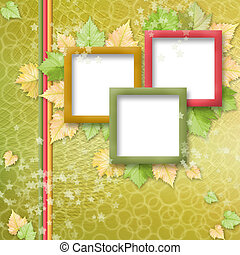 multicoloured holiday frames for greetings or invitations