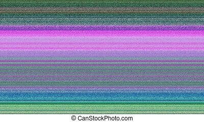 Multicoloured horizontal lines with static  A computer
