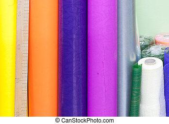 multicoloured rolls